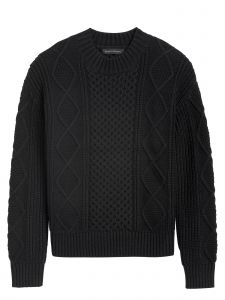 SWEATER MUJER CABLE MOCK